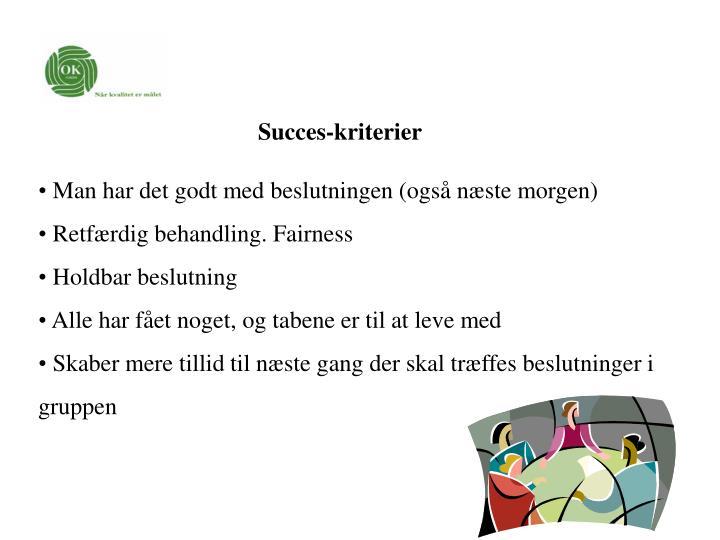 Succes-kriterier