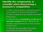 identify the components to consider when discovering a business s competition1