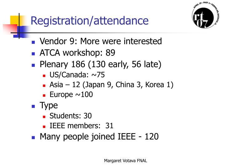 Registration attendance
