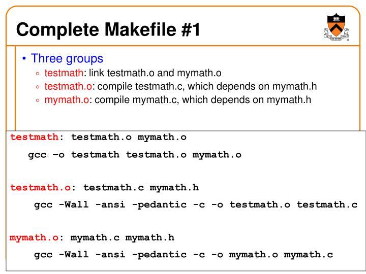 Complete Makefile #1