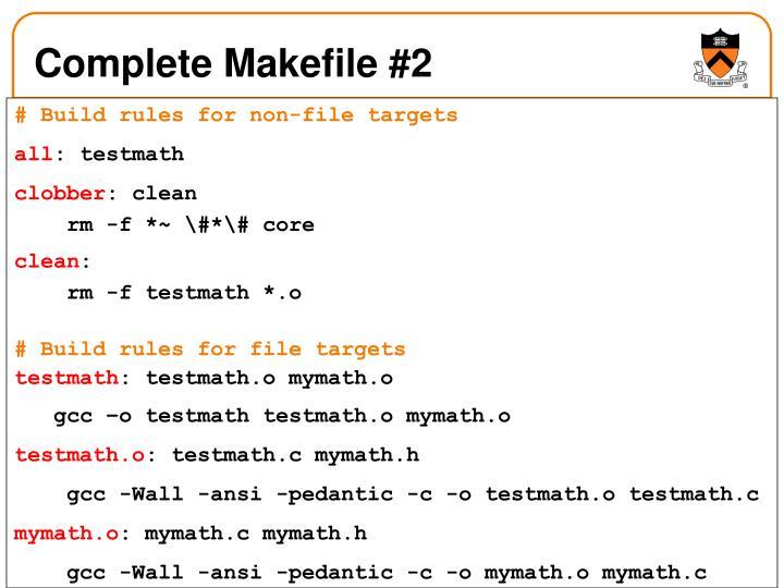 Complete Makefile #2