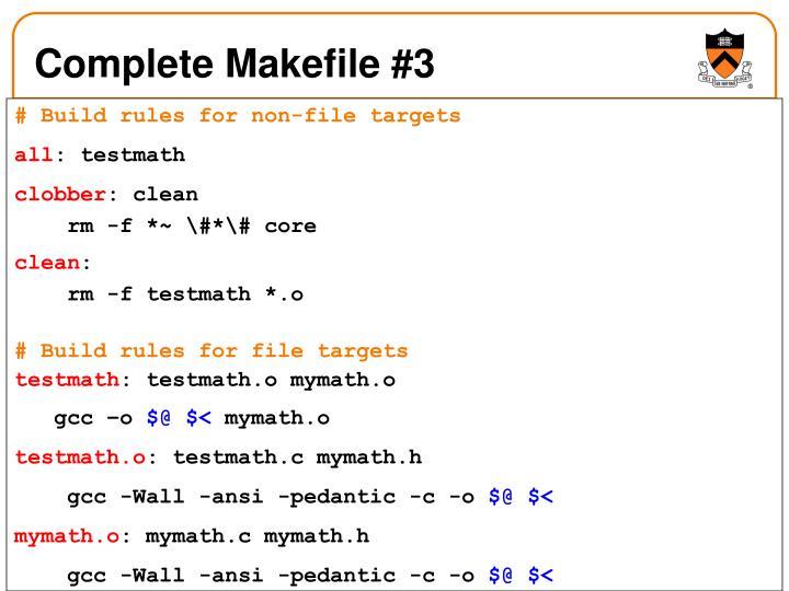 Complete Makefile #3