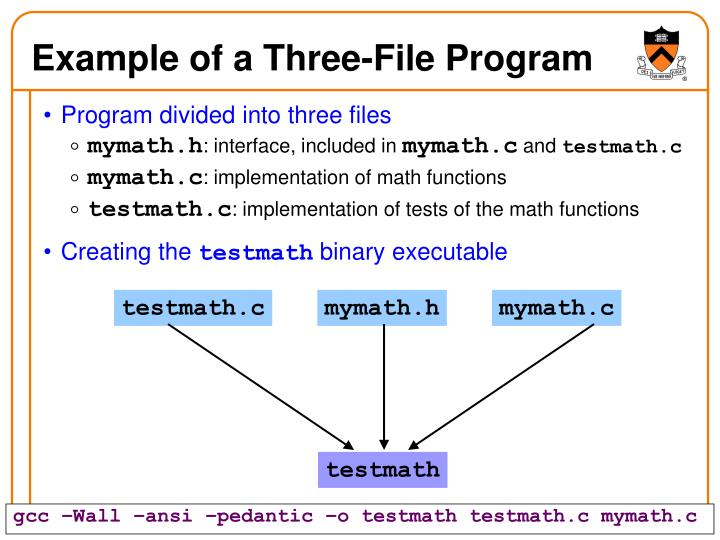 Example of a Three-File Program