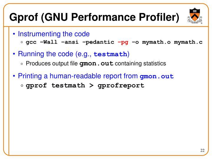 Gprof (GNU Performance Profiler)