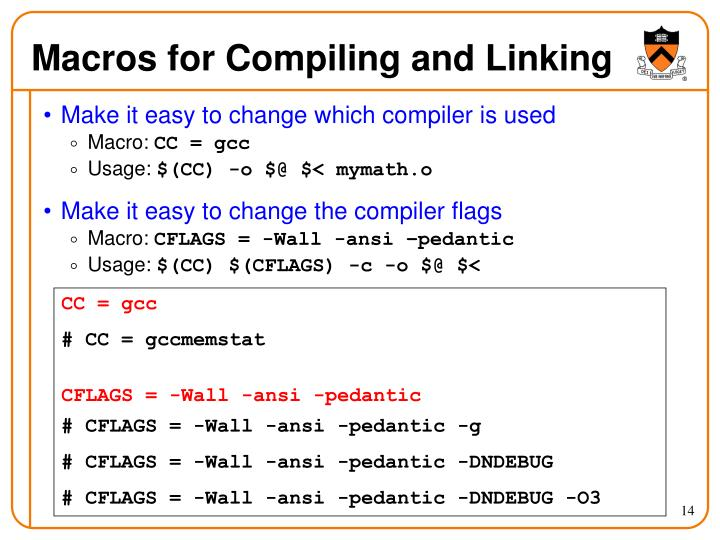 Macros for Compiling and Linking