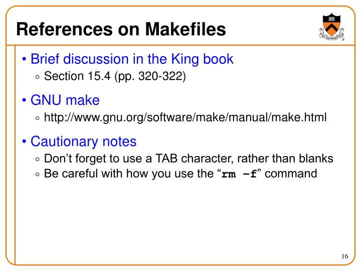 References on Makefiles