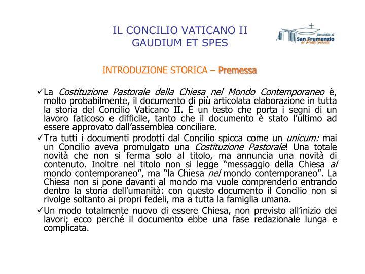 Il concilio vaticano ii gaudium et spes1