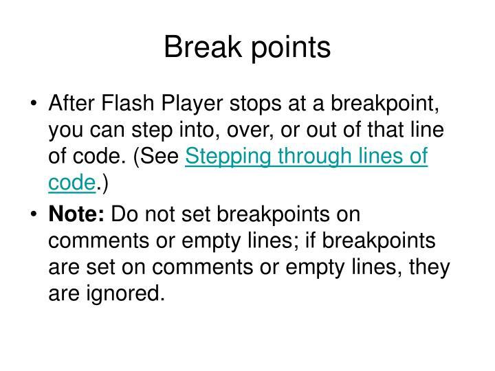 Break points
