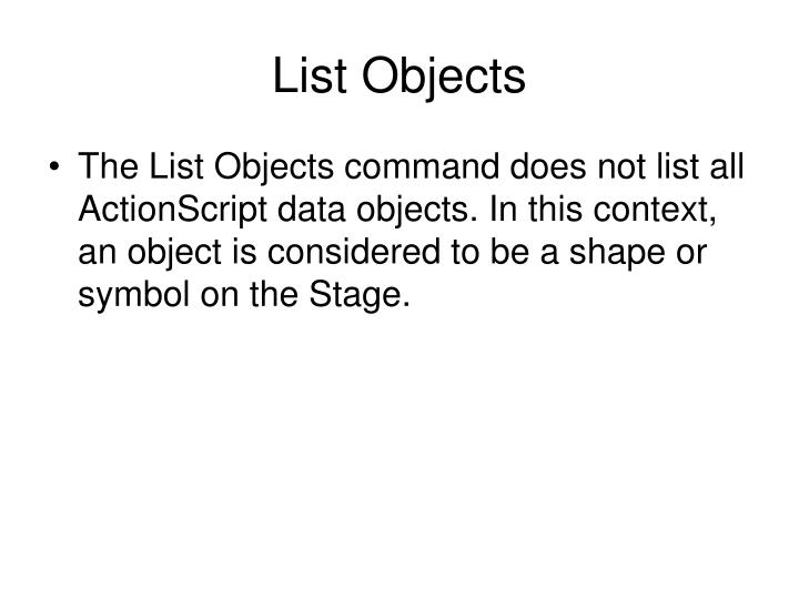 List Objects