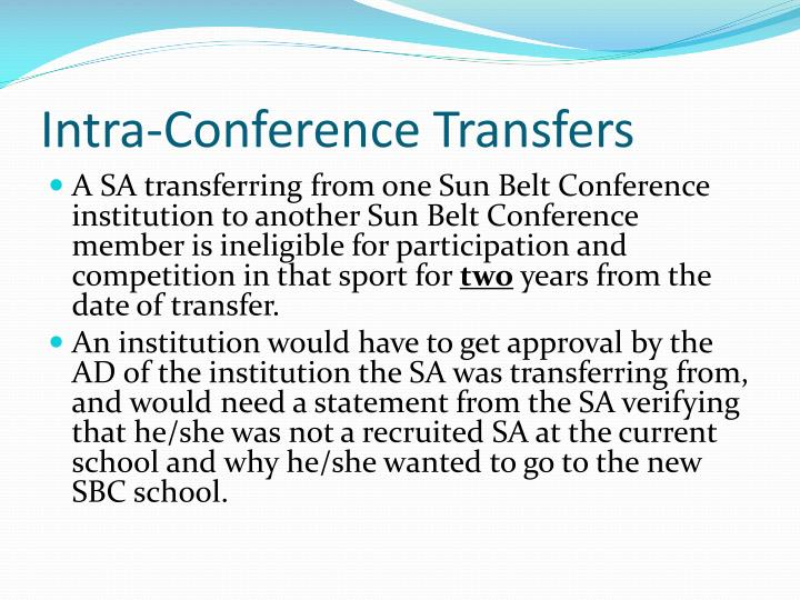 Intra-Conference Transfers