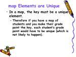 map elements are unique