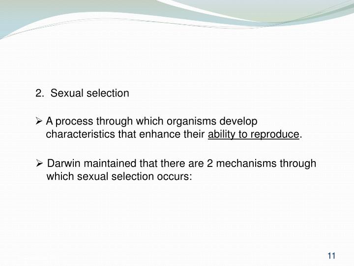 2.  Sexual selection