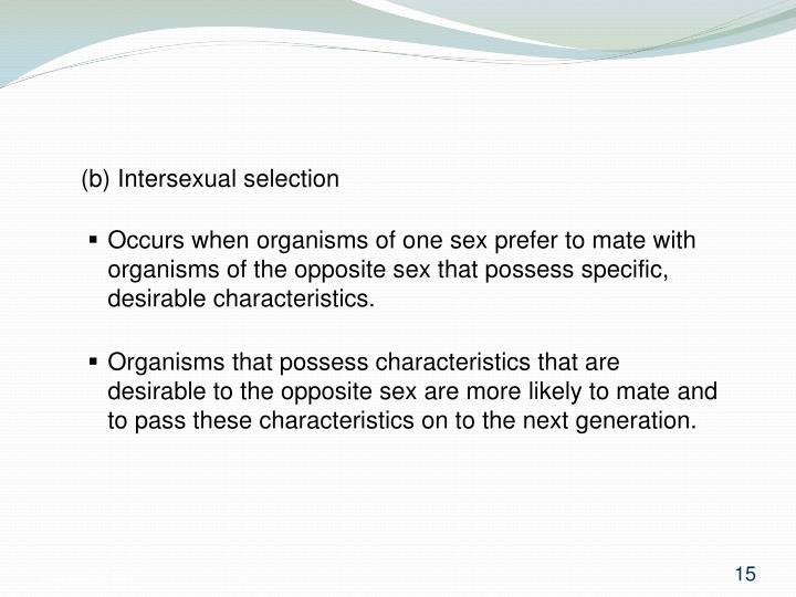 (b) Intersexual selection