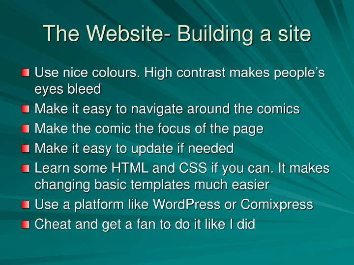 The Website- Building a site