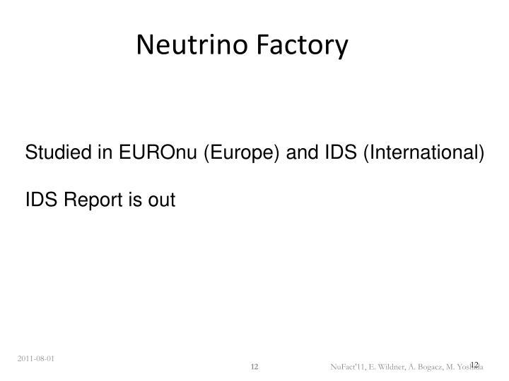 Neutrino Factory