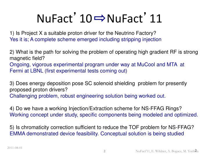 Nufact 10 nufact 11