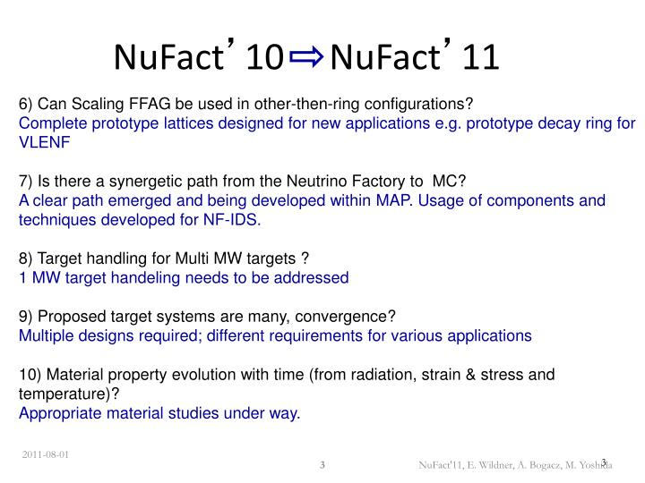 Nufact 10 nufact 111