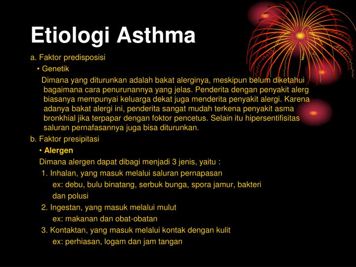 Etiologi Asthma