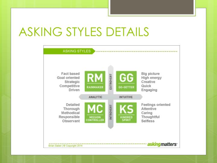 ASKING STYLES DETAILS