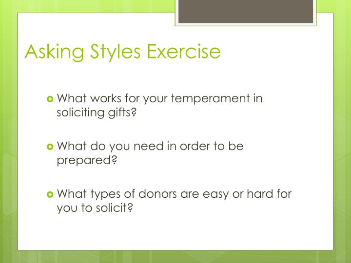 Asking Styles Exercise