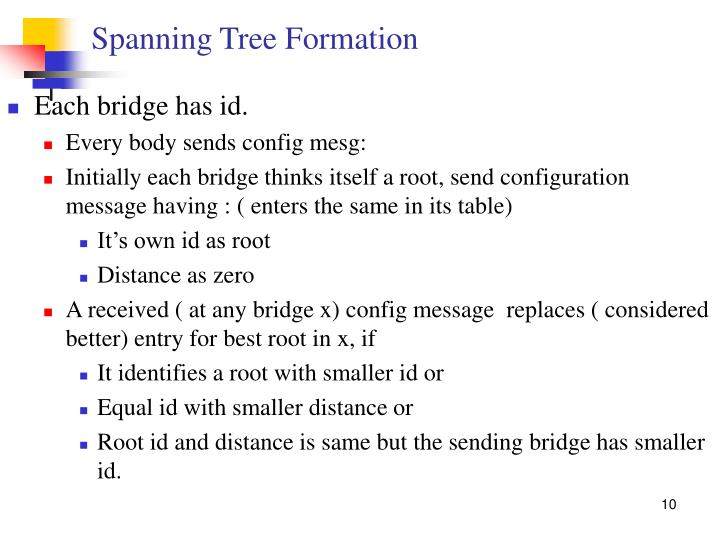 Spanning Tree Formation