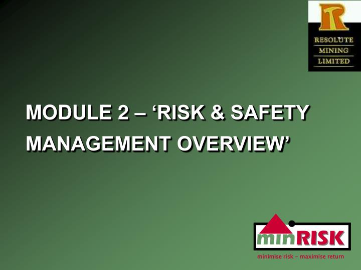 module 2 risk safety management overview n.
