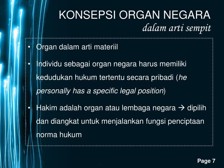 Organ dalam arti materiil