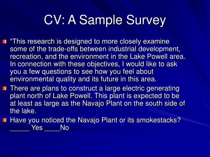 """This research is designed to more closely examine some of the trade-offs between industrial development, recreation, and the environment in the Lake Powell area. In connection with these objectives, I would like to ask you a few questions to see how you feel about environmental quality and its future in this area."