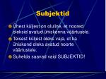subjektid