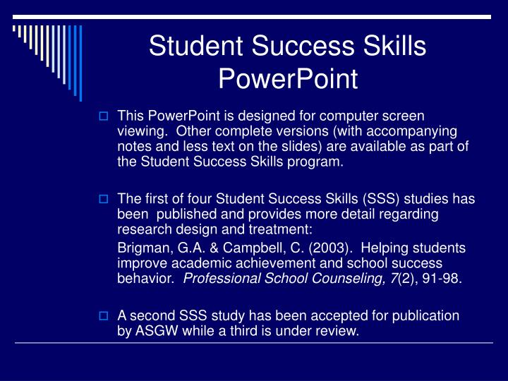 student success skills powerpoint n.