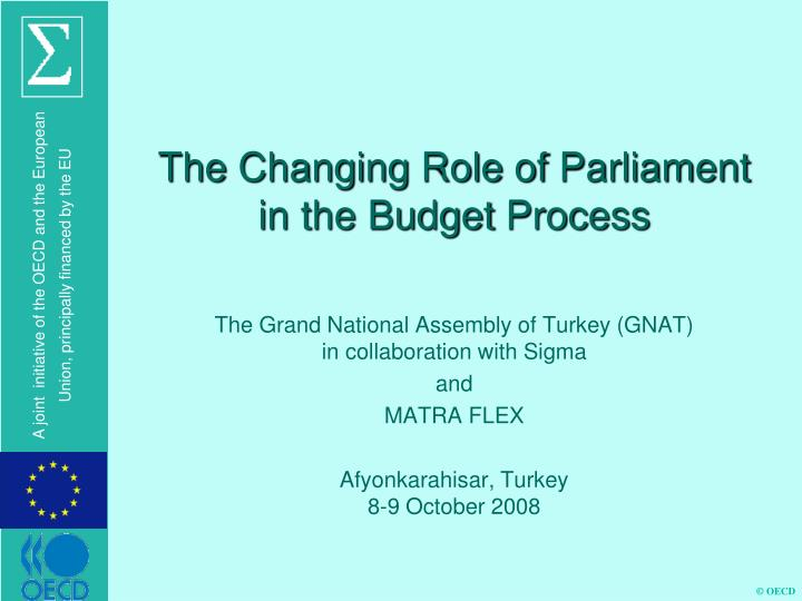 the changing role of parliament in the budget process