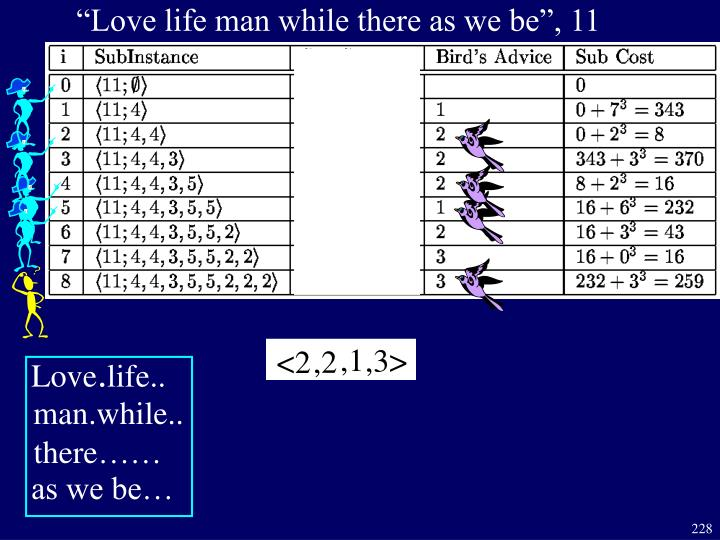 """Love life man while there as we be"", 11"