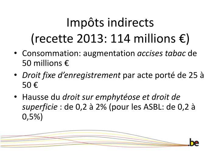 Impôts indirects