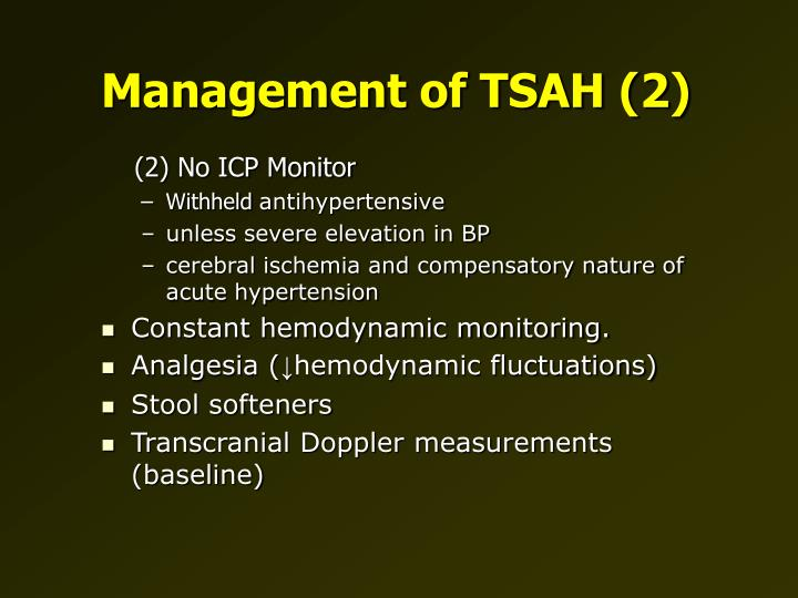 Management of TSAH (2)
