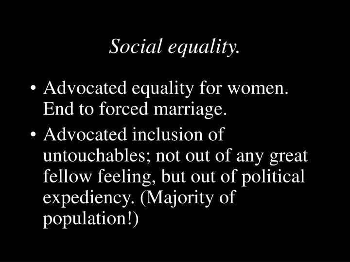 Social equality.