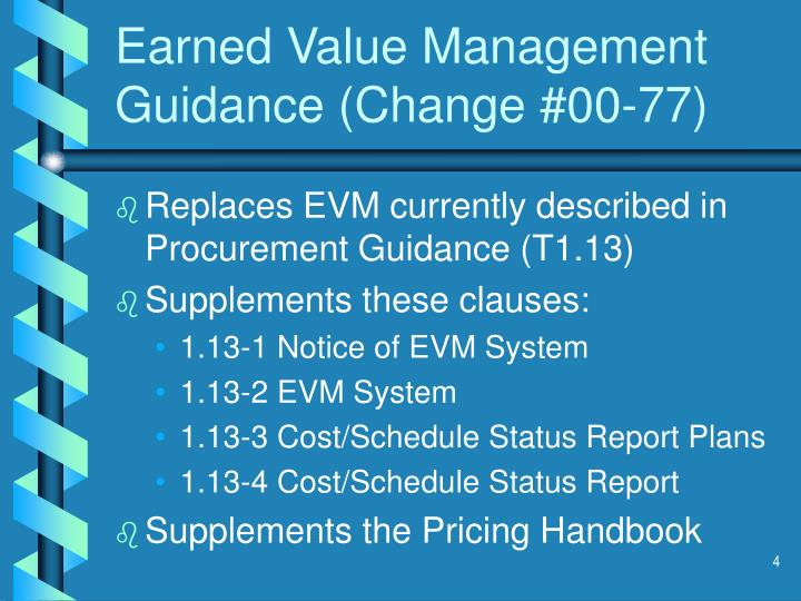 earned value management system essay Earned value management (evm) is a technique for measuring project progress in an objective manner it integrates technical scope, schedule, and.