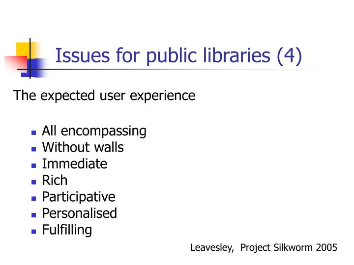Issues for public libraries (4)