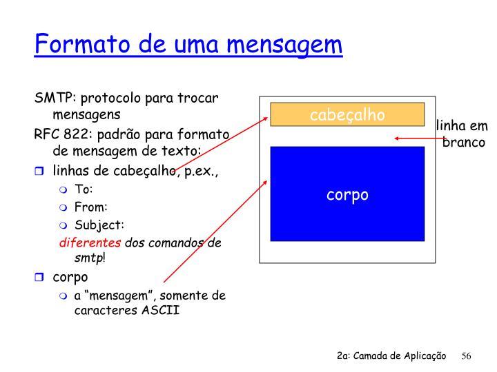 SMTP: protocolo para trocar mensagens