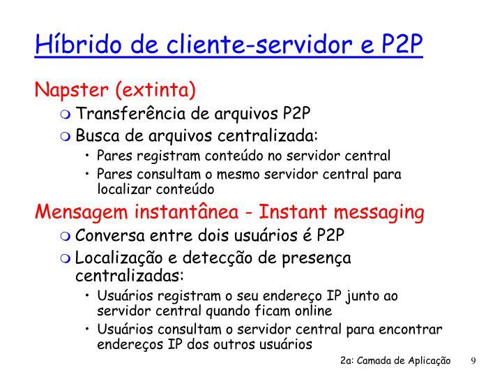 Híbrido de cliente-servidor e P2P