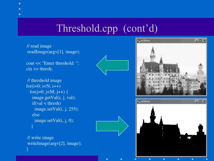 Threshold.cpp  (cont'd)