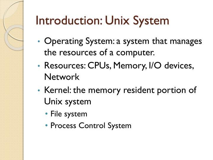 Introduction unix system