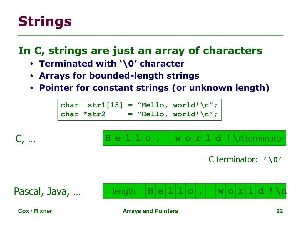 PPT - Arrays and Pointers in C PowerPoint Presentation - ID