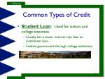 common types of credit1