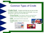 common types of credit2