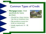 common types of credit3