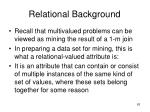 relational background