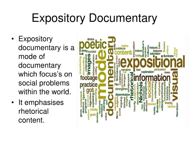 expository documentary essay Expository essays about nature essays and expository essay brittany williams university of phoenix food industry is 'super-size me' that documentary.
