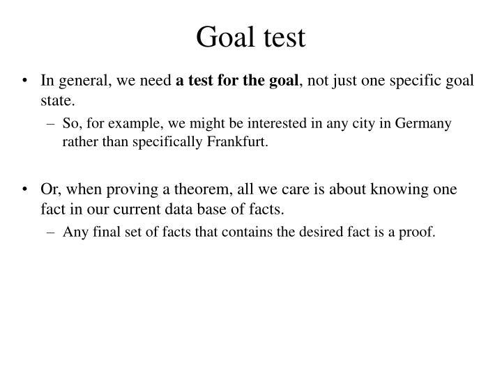Goal test