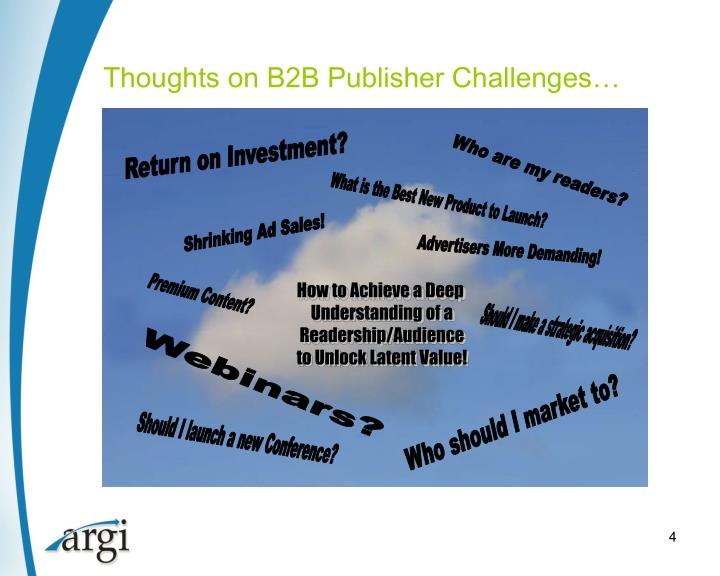 Thoughts on B2B Publisher Challenges…