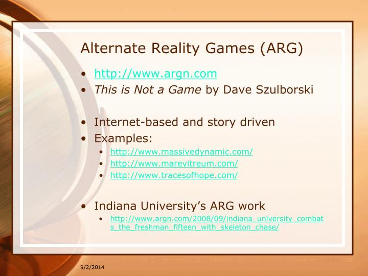 Alternate Reality Games (ARG)